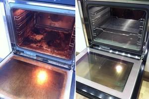 Как отмыть духовку от жира внутри