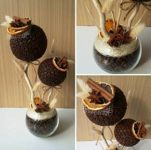 Зерна кофе для дерева