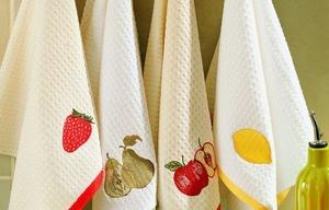 Замачивание кухонных полотенец