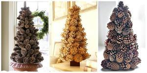 samodelnaya_elka_shishek Как сделать ёлку из шишек. Как сделать елку из еловых шишек своими руками