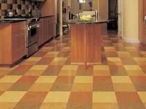 Пробковый пол на кухню: выбор материала