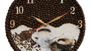 Кофейные часы своими руками