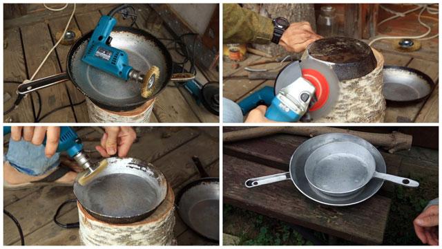 Как убрать нагар на сковороде в домашних условиях 714
